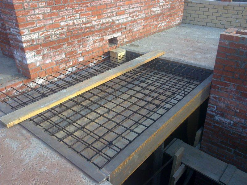как сделать бетонные перекрытия между этажами